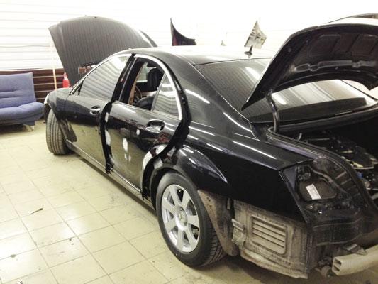 Фото пример кузовного ремонта Мерседес