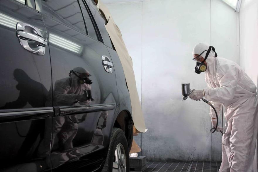 Фото процесса покраски авто «АвтосервисПрофи» Мурманск