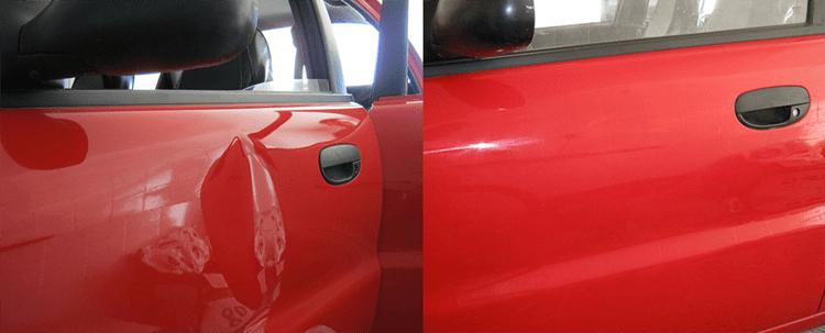 Фото примера работы по ремонту вмятины без покраски в «АвтосервисПоофи»